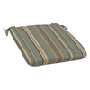 Striped Spa Blue Reversible Outdoor Seat Pad