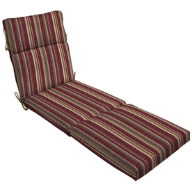 Shop 79 in l x 23 in w stripe cabernet red patio chaise for 23 w outdoor cushion for chaise