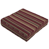 Striped Cabernet Red Reversible Outdoor Seat Pad