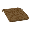Sunbrella Herrington Scroll Brown Floral Reversible Outdoor Seat Pad