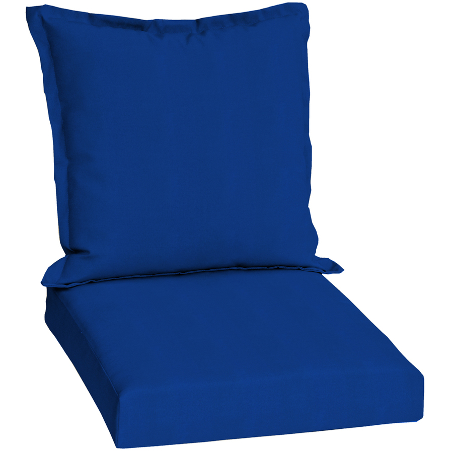 Shop Pacific Blue Standard Patio Chair Cushion at Lowes.com
