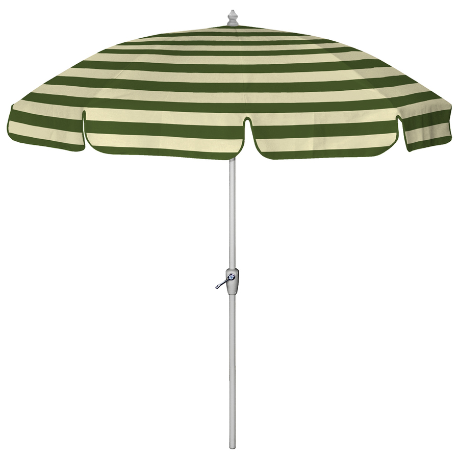Green striped patio umbrella striped patio umbrella green for Balcony umbrella