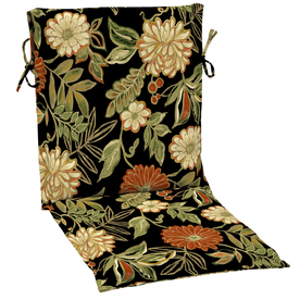 Garden Treasures Floral Black Floral Cushion For Sling Chair