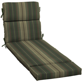 allen + roth Green Stripe Cushion For Chaise Lounge