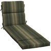 allen + roth Stripe Green Stripe Cushion for Chaise Lounge