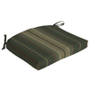 allen + roth Striped Green Reversible Outdoor Seat Pad