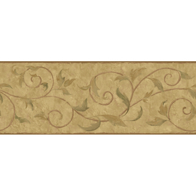 York Wallcoverings 9&#034; Vine Scroll Prepasted Wallpaper Border