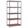 edsal 72-in H x 36-in W x 18-in D 5-Tier Steel Freestanding Shelving Unit