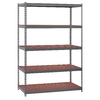 edsal 72-in H x 48-in W x 24-in D 5-Tier Steel Freestanding Shelving Unit