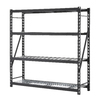 edsal 84-in H x 84-in W x 24-in D 4-Tier Steel Freestanding Shelving Unit