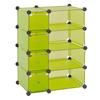 edsal 32-1/2-in W x 14-3/4-in D x 32-in H Green Modular Cube