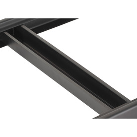 edsal 18-in Black Rectangular Shelf Tie Bar