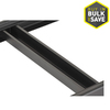 edsal 24-in Black Rectangular Shelf Tie Bar