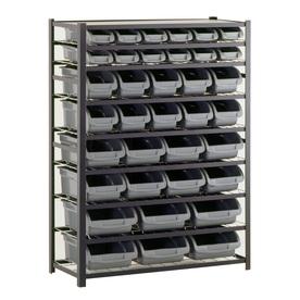 edsal 57-in H x 44-in W x 16-in D 8-Tier Steel Freestanding Shelving Unit