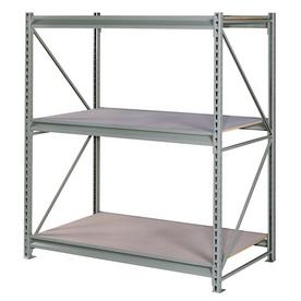 edsal 72-in H x 72-in W x 24-in D 3-Tier Steel Freestanding Shelving Unit
