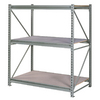 edsal 72-in H x 72-in W x 24-in D 3-Tier Steel Freestanding Shelving Unit