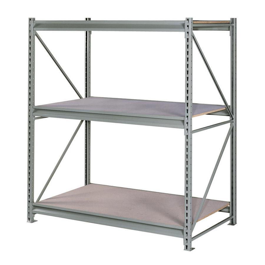 shop edsal 96 in h x 72 in w x 48 in d 3 tier steel