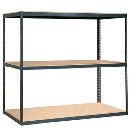 edsal 84-in H x 96-in W x 24-in D 3-Tier Steel Freestanding Shelving Unit