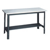 edsal 2-ft x 5-ft Economy Workbench with Laminate Top and Storage