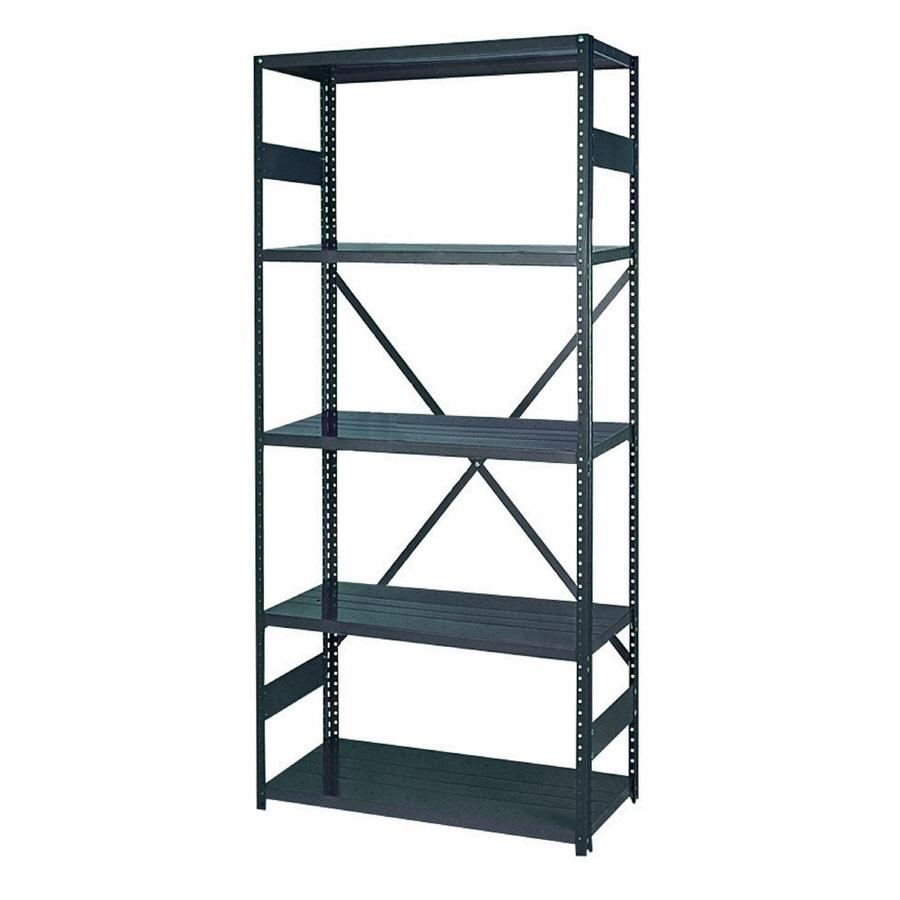 shop edsal 75 in h x 36 in w x 12 in d 5 tier steel. Black Bedroom Furniture Sets. Home Design Ideas