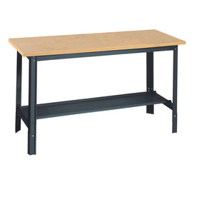 edsal 48-in W x 34-in H Adjustable Height Wood Work Bench