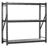 edsal 72-in H x 77-in W x 24-in D 3-Tier Steel Freestanding Shelving Unit