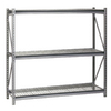 edsal 96-in H x 72-in W x 36-in D 3-Tier Steel Freestanding Shelving Unit
