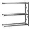 edsal 120-in H x 96-in W x 48-in D 3-Tier Steel Freestanding Shelving Unit