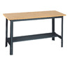 edsal 72-in W x 34-in H Adjustable Wood Work Bench