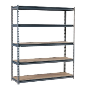 edsal 72-in H x 72-in W x 36-in D 5-Tier Steel Freestanding Shelving Unit