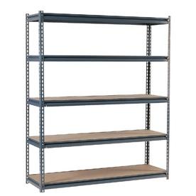 edsal 72-in H x 72-in W x 36-in D 5-Tier Steel Freestanding Shelving Unit