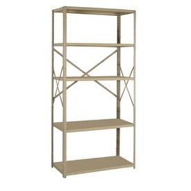 edsal 75-in H x 36-in W x 18-in D 5-Tier Steel Freestanding Shelving Unit