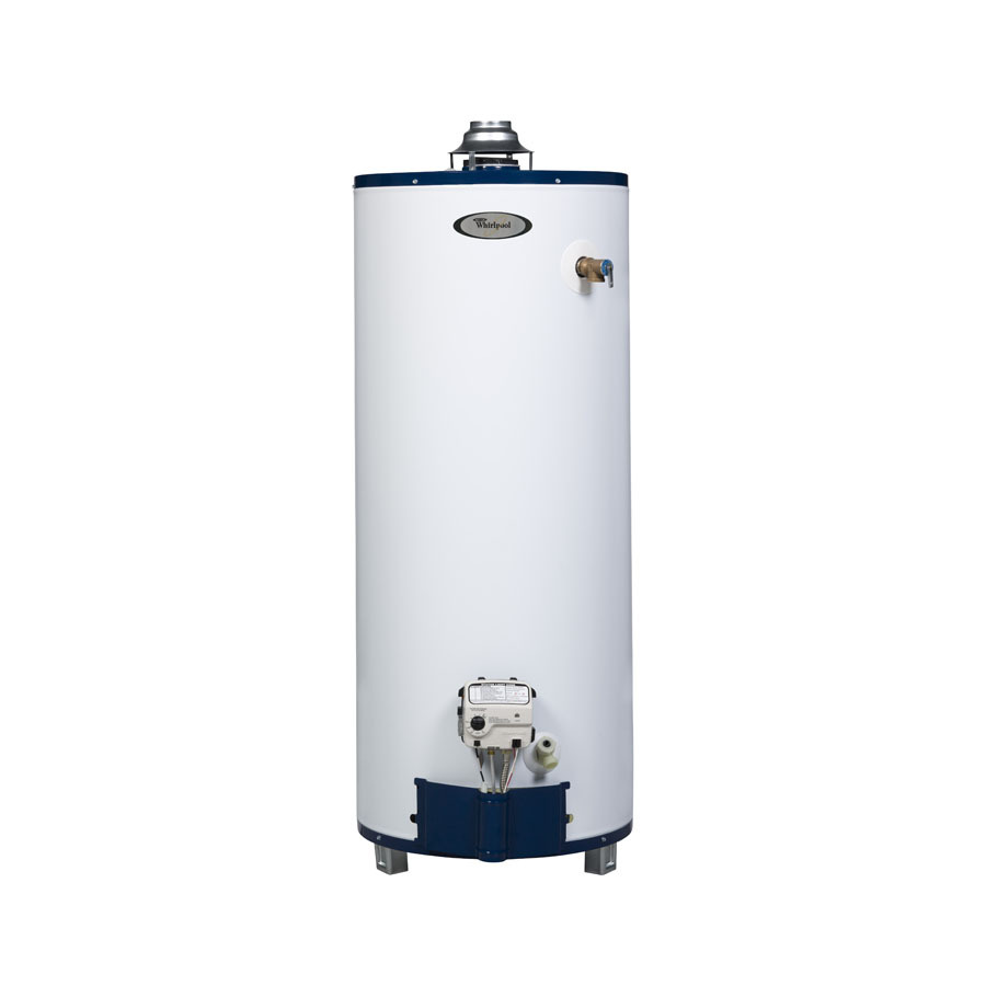 shop whirlpool 6th sense 40 gallon 6 year short gas water