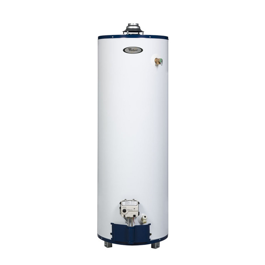 Shop whirlpool 6th sense 40 gallon 6 year tall gas water Natural gas water heater