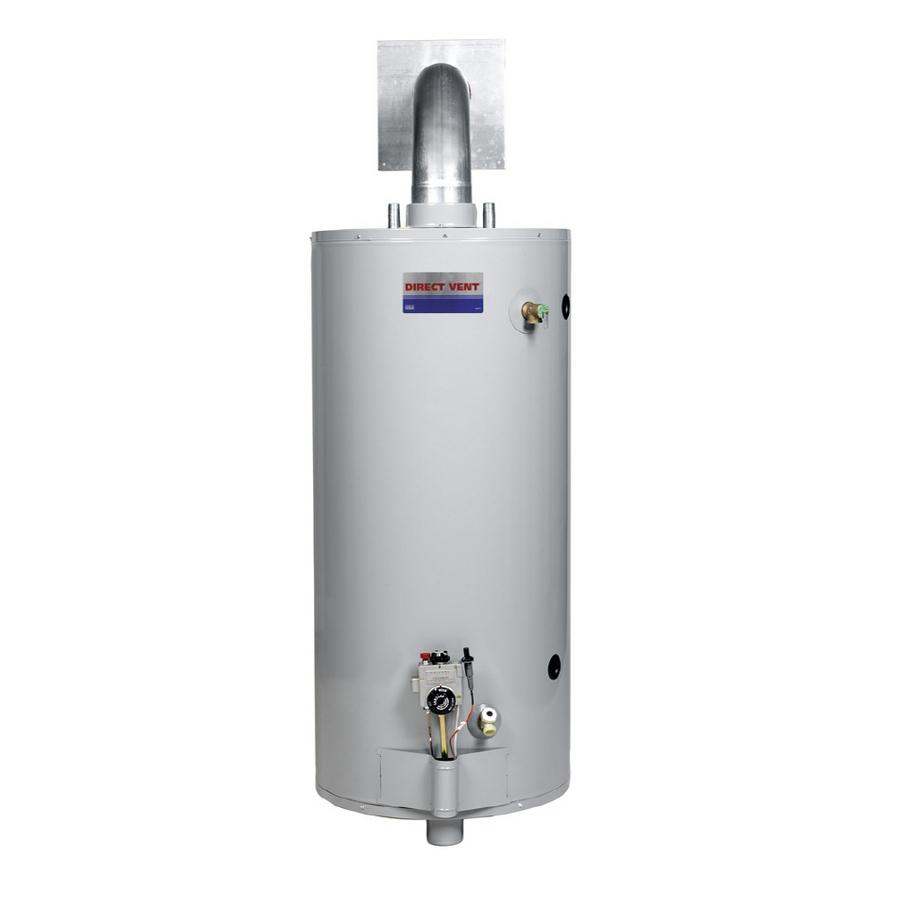 shop direct vent 40 gallon 6 year short gas water heater