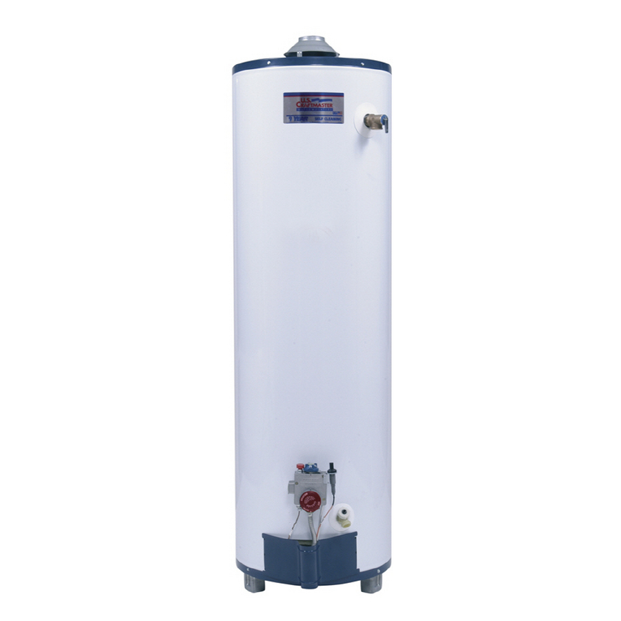 shop u s craftmaster 40 gallon 9 year tall gas water