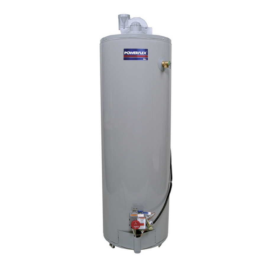 shop powerflex powerflex 40 gallon 6 year tall gas water