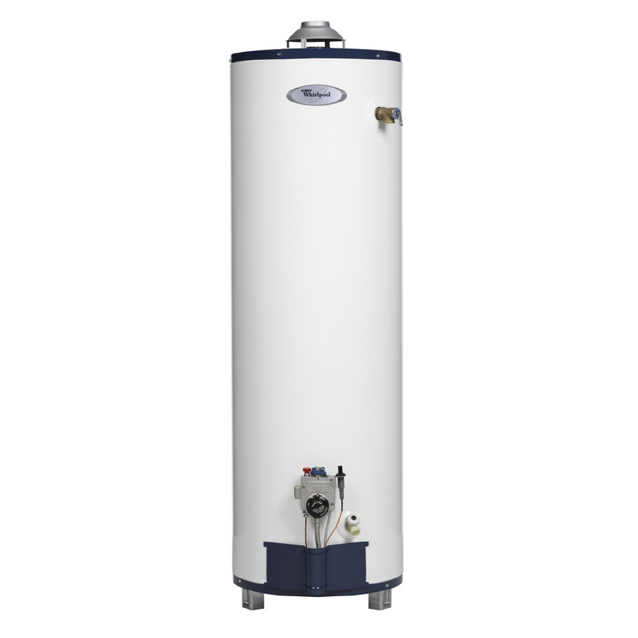 shop whirlpool 40 gallon 6 year tall gas water heater
