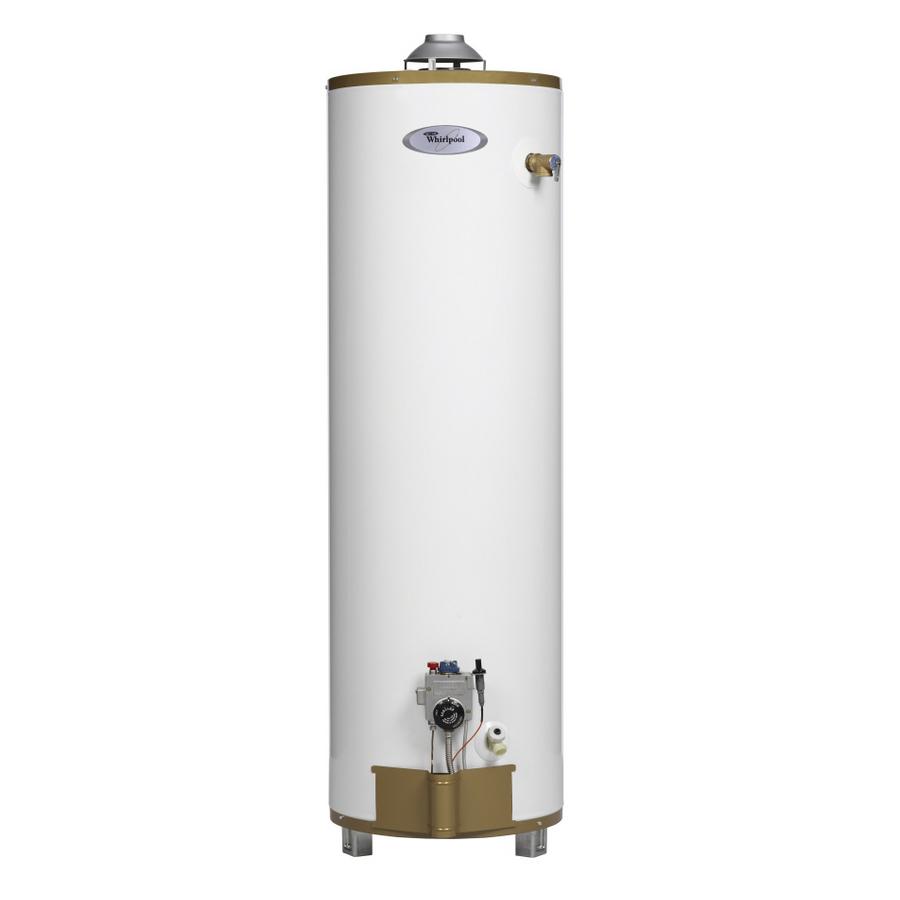 shop whirlpool 40 gallon tall gas water heater natural