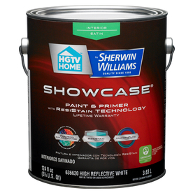 Shop Hgtv Home By Sherwin Williams Showcase White Satin Latex Interior Paint And Primer In One