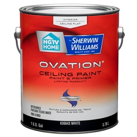 Shop Hgtv Home By Sherwin Williams Ovation Interior Flat Ceiling Tintable White Latex Base Paint