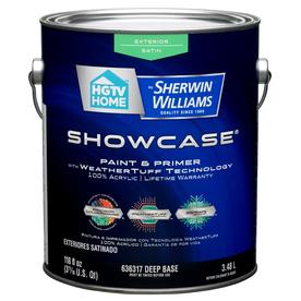 Shop Hgtv Home By Sherwin Williams Showcase Exterior Satin Tintable Tint Base Latex Base Paint