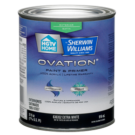 Shop Hgtv Home By Sherwin Williams Ovation Exterior Satin Tintable Tint Base Latex Base Paint