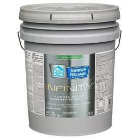 Shop hgtv home by sherwin williams infinity tintable satin acrylic exterior paint actual net - Acrylic paint exterior plan ...
