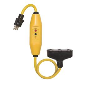 ... Outlet 12-Gauge Yellow/Black Outdoor Extension Cord with GFCI Circuit