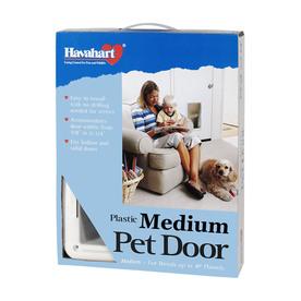 Havahart Medium White Plastic Pet Door (Actual: 12-in x 8.5-in)