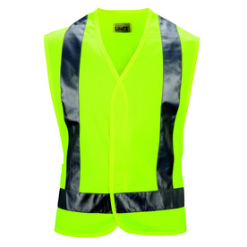 Red Kap 5XL Yellow Polyester High Visibility Reflective Safety Vest