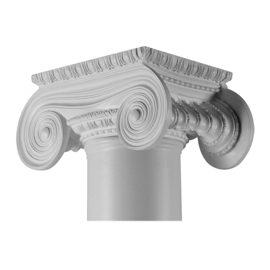 Resin Post Caps : Shop turncraft in greek erectheum poly resin column cap