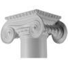 Turncraft 12-in Greek Erectheum Poly/Resin Column Cap and Base
