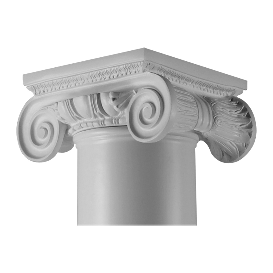 Resin Post Caps : Shop turncraft in roman ionic poly resin column cap at